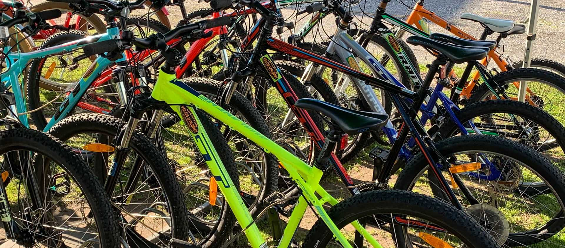 Lots de vélos à louer à Vieux-Boucau